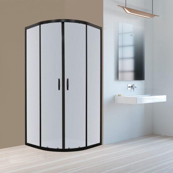 Tiara 90x90 cm íves tolóajtós zuhanykabin zuhanytálca nélkül