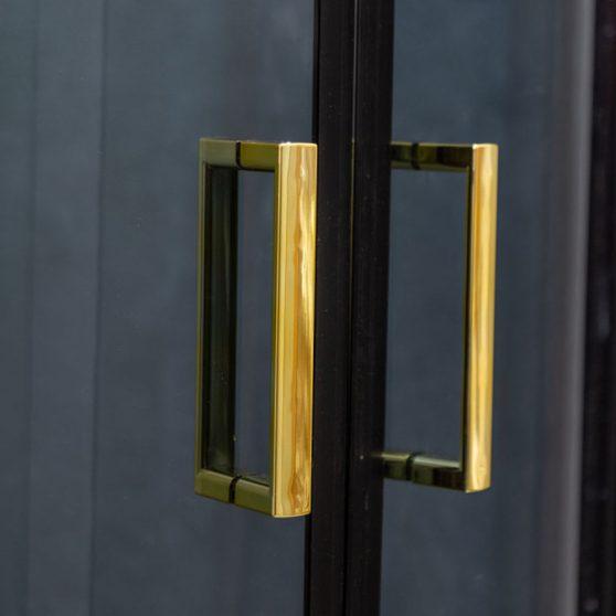 Tiara Gold 80x80 cm íves zuhanykabin zuhanytálca nélkül
