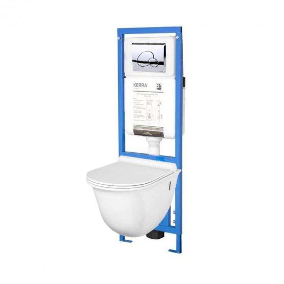 TULIP-SET falba építhető WC tartály szettben Tulip wc-vel