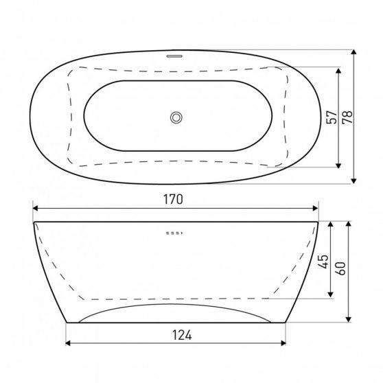 VERA szabadon álló fürdőkád