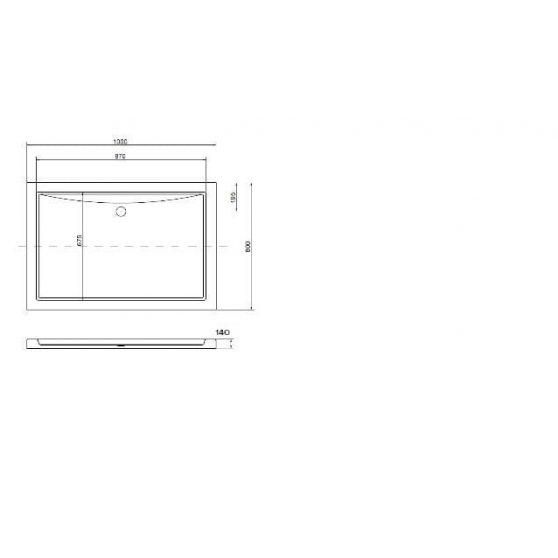 Victor aszimmetrikus akril zuhanytálca 100x80 cm