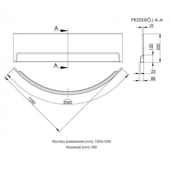 Wivea 125 sarokkád előlap