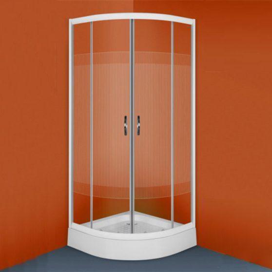 XENIA 80x80 cm íves zuhanykabin, + ajándék zuhanytálca