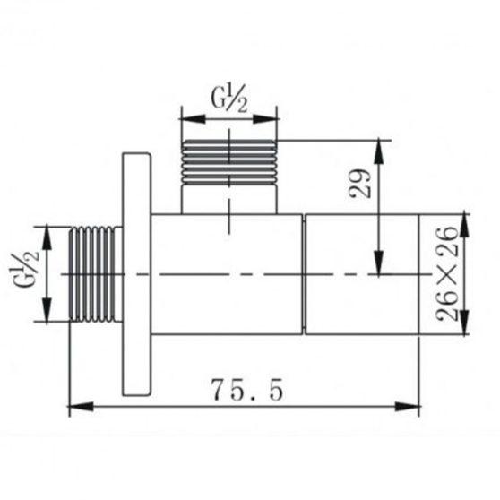 ZKSS1/2x1/2 szögletes sarokszelep szálcsiszolt nikkel