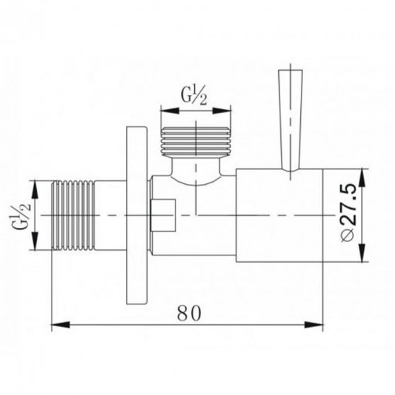 ZOSS1/2x1/2 kerek sarokszelep szálcsiszolt nikkel